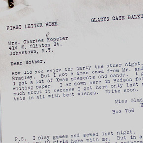 First Letter Home