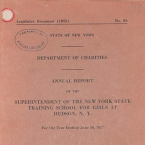 Life at the New York State Training School for Girls: Annotated bibliographies of articles, reports, and books
